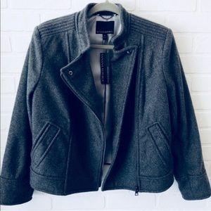 Banana Republic Charcoal Gray Wool Jacket M NWT